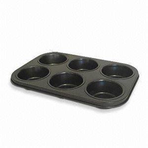 Moule A Pâtisserie (Muffins), 6 Fentes, Antiadhésif