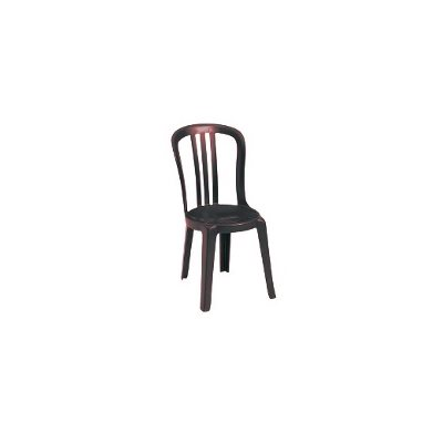 Chaise, Style Bistro Miami, Empilable, Bordeaux