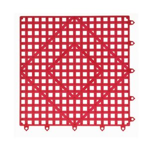 Tapis De Comptoir/Bar A Emboitement, Rouge, 30.5 X 30.5 CM