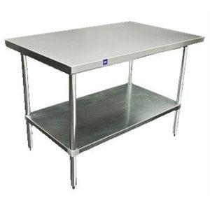 """Table En Acier Inoxydable, 2 Étages, 76 x 122 x 86 CM, """"Tzanet"""""""