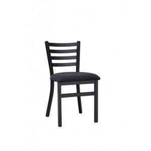 Chaise A Cadran Noir En Acier, 81 X 43CM