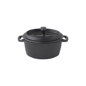 """Casserole, Round, Cast Iron, Cover Included, 4"""""""