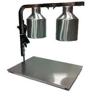 Réchaud, 2 Ampoules (Infrarouge), Base En Acier Inoxydable