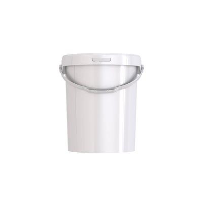 Recipient Blanc, Poignée Plastique, 21.3 L, 12.8 x 13.1 Po (32.6 x 33.2 CM)