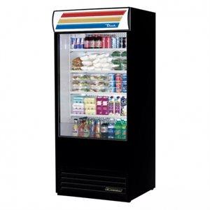 """Réfrigérateur A Rideau Ouvert, Noir, 36 X 30.13 X 80.63 Po, """"True"""""""