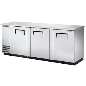 Réfrigérateur Bar, 3 Portes, Acier Inoxydable, 90 Po