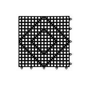 Tapis De Comptoir/Bar A Emboitement, Noir, 30.5 X 30.5 CM